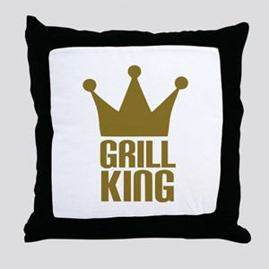 BBQ - Grill king Throw Pillow