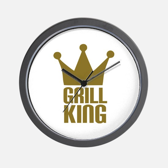 BBQ - Grill king Wall Clock