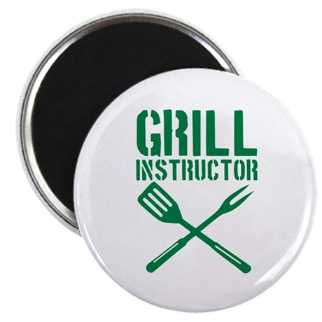 "BBQ - Grill Instructor 2.25"" Magnet (100 pack)"