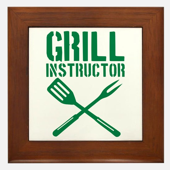 BBQ - Grill Instructor Framed Tile