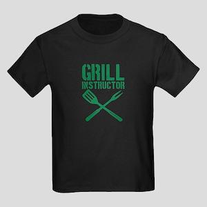 BBQ - Grill Instructor Kids Dark T-Shirt