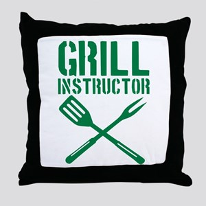 BBQ - Grill Instructor Throw Pillow