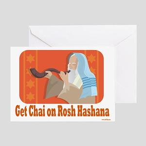 Get Chai on Rosh Hashana Greeting Card