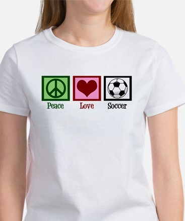 Peace Love Soccer Women's T-Shirt