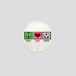 Peace Love Soccer Mini Button