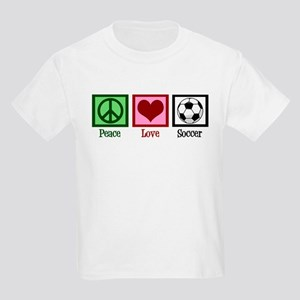 Peace Love Soccer Kids Light T-Shirt