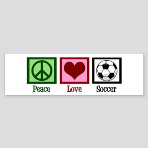Peace Love Soccer Sticker (Bumper)