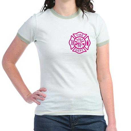 Female Firefighter Jr. Ringer T-Shirt