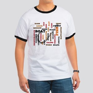 Fishing Terms w/colored ltrs Ringer T
