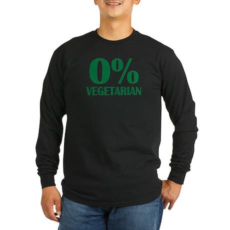 Meat - BBQ - 0% Vegetarian Long Sleeve Dark T-Shir