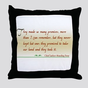 Native America Quote Throw Pillow