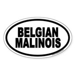 Belgian Malinois Euro Oval Sticker