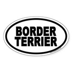 Border Terrier Euro Oval Sticker