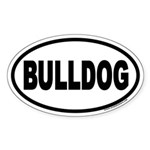Bulldog Euro Oval Sticker