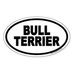 Bull Terrier Euro Oval Sticker