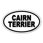 Cairn Terrier Euro Oval Sticker