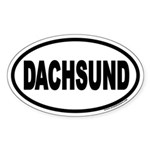 Dachsund Euro Oval Sticker