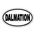 Dalmation Euro Oval Sticker