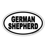 German Shepherd Euro Oval Sticker