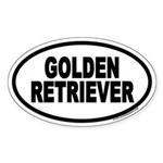 Golden Retriever Euro Oval Sticker
