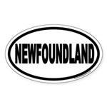 Newfoundland Euro Oval Sticker