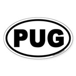 PUG Euro Oval Sticker