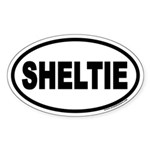 Sheltie Euro Oval Sticker