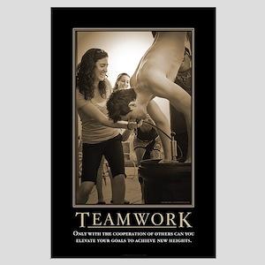 Teamwork Large Poster