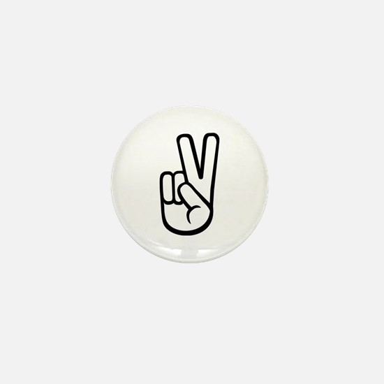 Peace hand Mini Button