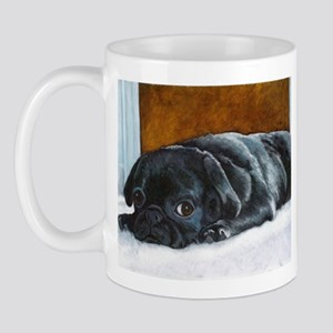 Resting Black Pug Puppy Mug