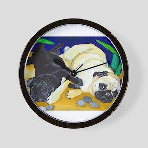 Pug Play Wall Clock
