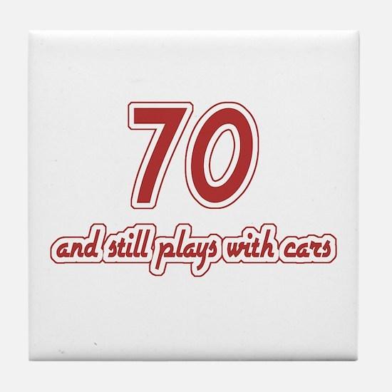 Car Lover 70th Birthday Tile Coaster