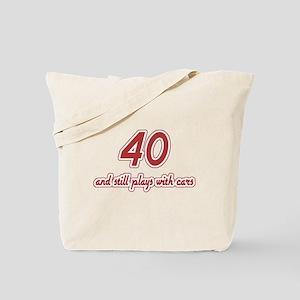 Car Lover 40th Birthday Tote Bag