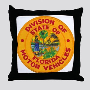 Florida Divison of Motor Vehi Throw Pillow