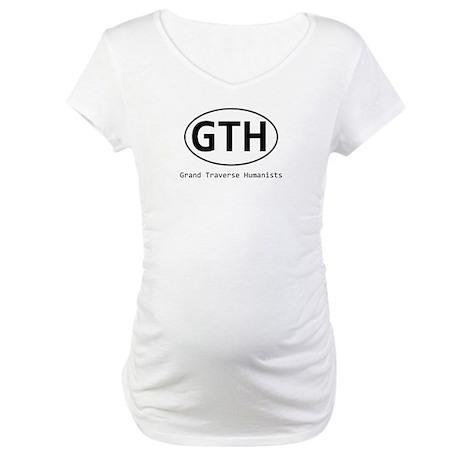 Grand Traverse Humanists Euro Logo Maternity T-Shi