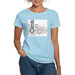Climbing Words Women's Light T-Shirt
