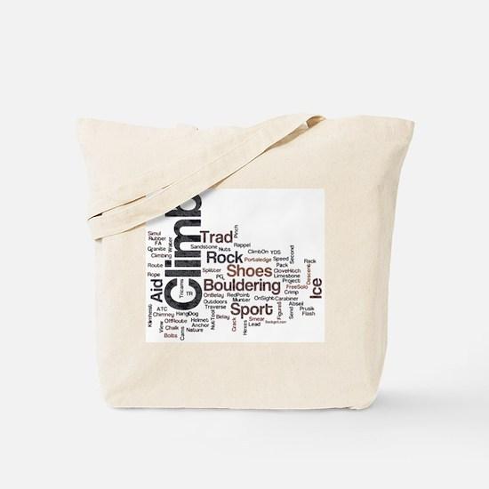 Climbing Words Tote Bag