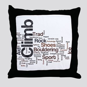 Climbing Words Throw Pillow