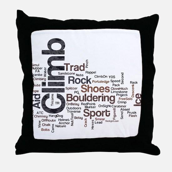 Climbing Words Throw Pillow