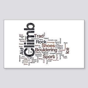 Climbing Words Sticker (Rectangle)