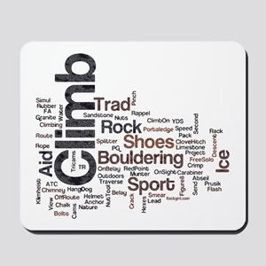 Climbing Words Mousepad