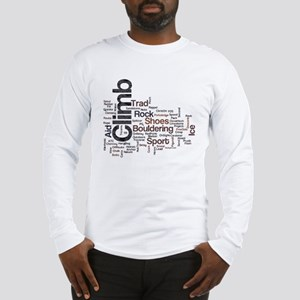 Climbing Words Long Sleeve T-Shirt