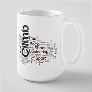 Climbing Words Large Mug
