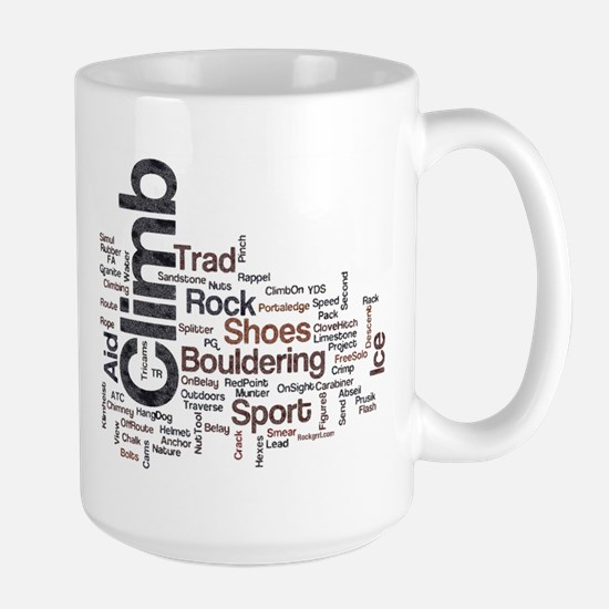 Climbing Words Large Mug