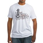 Climbing Words Fitted T-Shirt