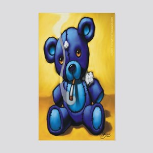 """Smokin' Bear"" Rectangle Sticker"