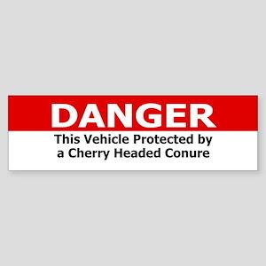 Danger Cherry Headed Conure Bumper Sticker