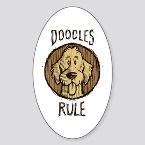 Doodles Rule Sticker (Oval)