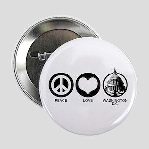 """Peace Love Washington D.C. 2.25"""" Button"""
