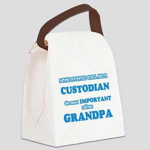 Some call me a Custodian, the mos Canvas Lunch Bag